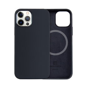 Crong Color Cover MagSafe Etui Obudowa do iPhone 12 Pro / iPhone 12 (Black)