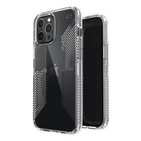 Speck Presidio Perfect-Clear with Grips Etui Ochronne do iPhone 12 Pro Max z Powłoką Microban (Clear)