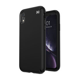 Speck Presidio2 Pro Etui Ochronne do iPhone Xr z Powłoką Microban (Black/Black/White)