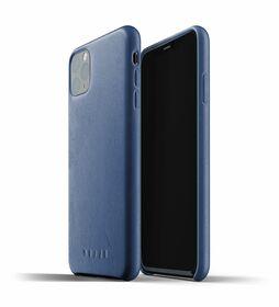 Mujjo Full Leather Case Etui Skórzane do iPhone 11 Pro Max (Monaco Blue)
