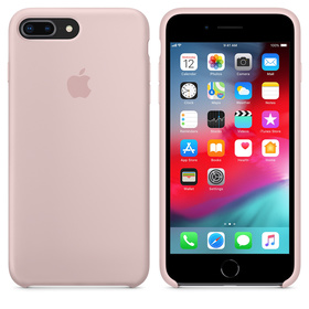 Apple Silicone Case Oryginalne Silikonowe Etui do iPhone 8 Plus / iPhone 7 Plus (Piaskowy Róż)