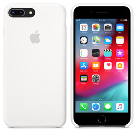 Apple Silicone Case Oryginalne Silikonowe Etui do iPhone 8 Plus / iPhone 7 Plus (Biały)