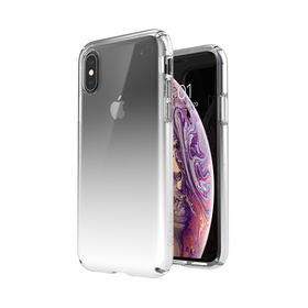 Speck Presidio Perfect-Clear + Ombre Etui Ochronne do iPhone Xs / iPhone X z Powłoką Microban (Clear/Atmosphere Fade)