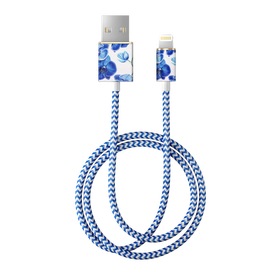 iDeal of Sweden Cable Kabel USB ze Złączem Lightning MFI 1m (Baby Blue Orchids)