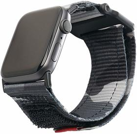 Urban Armor Gear Active Strap Materiałowy Pasek do Apple Watch 5 (44mm) / Apple Watch 4 (44mm) / Apple Watch 3 (42mm) / Apple Watch 2 (42mm) / Apple Watch 1 (42mm) (Midnight)