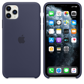 Apple Silicone Case MWVU2ZM/A Etui Silikonowe do iPhone 11 Pro Max (Nocny Błękit)