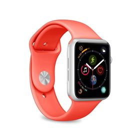 Puro Icon Apple Watch Band Elastyczny Pasek Sportowy do Apple Watch 40 mm / 38 mm (S/M & M/L) (Living Coral)