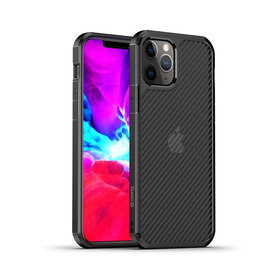 Crong Hybrid Carbon Etui Obudowa do iPhone 12 Pro Max (Czarny)