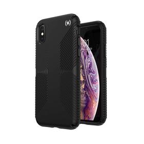 Speck Presidio2 Grip Etui Ochronne do iPhone Xs / iPhone X z Powłoką Microban (Black/Black)