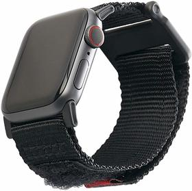 Urban Armor Gear Active Strap Materiałowy Pasek do Apple Watch 5 (44mm) / Apple Watch 4 (44mm) / Apple Watch 3 (42mm) / Apple Watch 2 (42mm) / Apple Watch 1 (42mm) (Black)