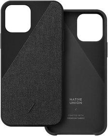 Native Union Clic Canvas Etui Obudowa do iPhone 12 Mini (Black)