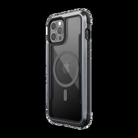 Raptic Shield Pro Magnet Etui Aluminiowe do iPhone 12 Pro Max z MagSafe (Drop Test 4 m) (Black)
