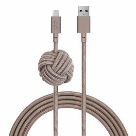 Native Union Night Kabel USB Lightning z Węzłem 3m (Taupe)