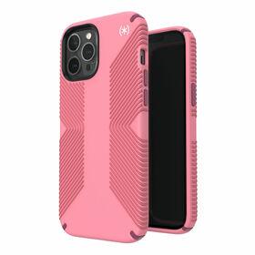 Speck Presidio2 Grip Etui Ochronne do iPhone 12 Pro Max z Powłoką Microban (Vintage Rose/Royal Pink/Lush Burgundy)