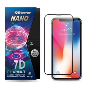 Crong 7D Nano Flexible Glass Szkło Hybrydowe 9H Na Cały Ekran do iPhone 11 Pro / iPhone Xs / iPhone X