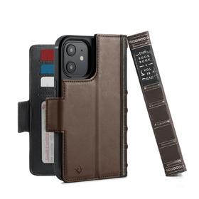 Twelve South BookBook Etui Skórzane z Klapką do iPhone 12 Mini Kompatybilne z MagSafe (Brown)