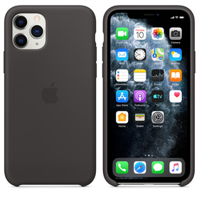 Apple Silicone Case MWYM2ZM/A Etui Silikonowe do iPhone 11 Pro (Czarny)