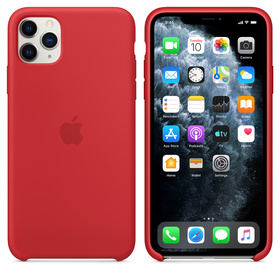 Apple Silicone Case MWVU2ZM/A Etui Silikonowe do iPhone 11 Pro Max (Czerwony) (Product) Red