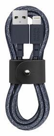 Native Union Belt Cable Wzmocniony Przewód USB ze Złączem Lightning ze Skórzanym Zapięciem (1,2 m) (Indigo)