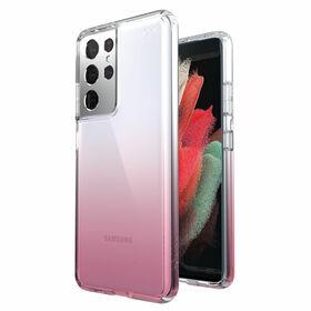 Speck Presidio Perfect-Clear Ombre Etui Ochronne do Samsung Galaxy S21 Ultra z Powłoką Microban (Clear/Vintage Rose)