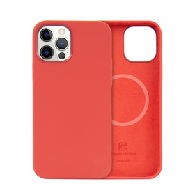 Crong Color Cover MagSafe Etui Obudowa do iPhone 12 Pro Max (Red)