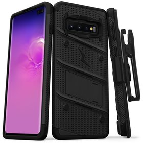 Zizo Bolt Cover Etui Pancerne do Samsung Galaxy S10+ Plus (Black/Black)