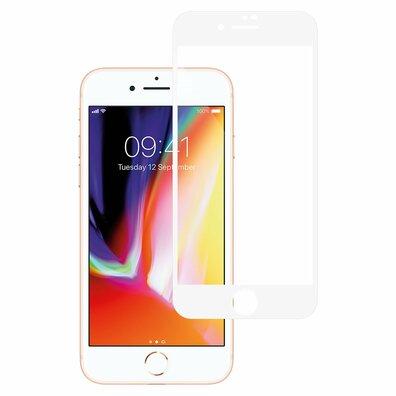 Mr. Monkey Glass 5D Strong HD Szkło Hartowane 9H na Cały Ekran do iPhone 8 Plus / iPhone 7 Plus (Biała Ramka)
