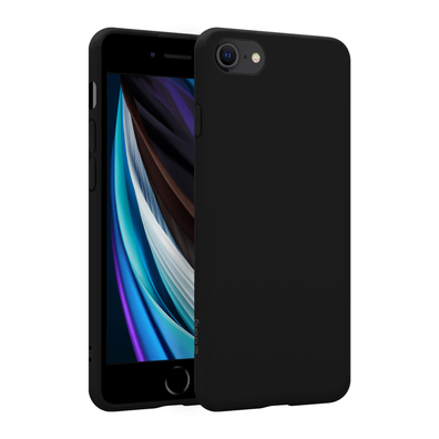Crong Color Cover Etui Obudowa do iPhone SE (2020) / iPhone 8 / iPhone 7 (Czarny)