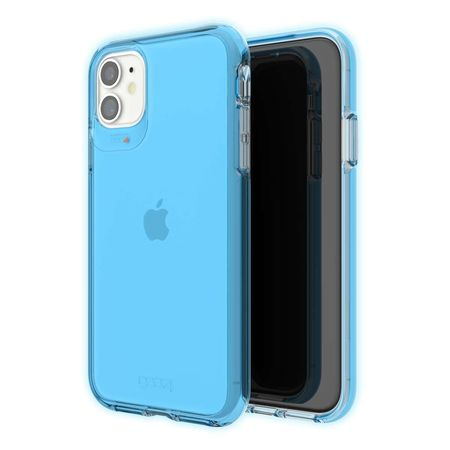 Gear4 Crystal Palace Neon Etui Ochronne do iPhone 11 (Neon Blue) (1)