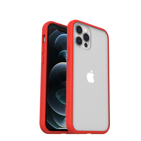 OtterBox React Etui Ochronne do iPhone 12 Pro / iPhone 12 (Clear Red) (1)