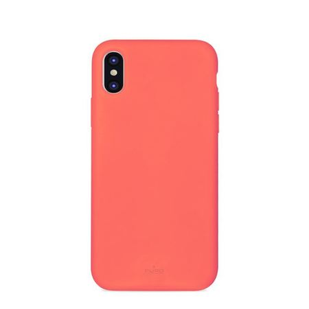 (EOL) Puro Icon Cover Etui Silikonowe do iPhone Xs / iPhone X (Living Coral) Limited Edition (1)