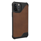 Urban Armor Gear Metropolis LT Skórzane Etui Pancerne do iPhone 12 Pro Max (LTHR ARMR Brown) (3)
