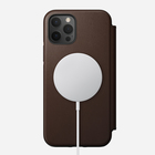 Nomad Rugged Folio MagSafe Skórzane Etui do iPhone 12 Pro / iPhone 12 (Rustic Brown) (2)