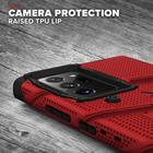 Zizo Bolt Cover Etui Pancerne do Samsung Galaxy Note20 Ultra + Podstawka & Uchwyt do Paska (Red & Black) (7)