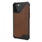 Urban Armor Gear Metropolis LT Skórzane Etui Pancerne do iPhone 12 Pro Max (LTHR ARMR Brown) (2)