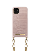 iDeal of Sweden Necklace Etui Obudowa ze Smyczą do iPhone 11 / iPhone Xr (Misty Rose Croco)