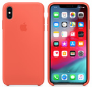 Apple Silicone Case Oryginalne Silikonowe Etui do iPhone Xs (Nektarynka)