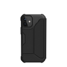 Urban Armor Gear Metropolis Etui Pancerne z Klapką do iPhone 12 Mini (FIBR ARMR Black)