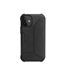 Urban Armor Gear Metropolis Skórzane Etui Pancerne z Klapką do iPhone 12 Mini (LTHR ARMR Black)