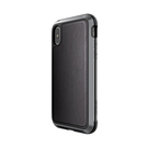 X-Doria Defense Lux Etui Aluminiowe do iPhone Xs / iPhone X (Drop Test 3m) (Black Leather)