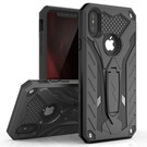 Zizo Static Cover Etui Pancerne z Podstawką do iPhone Xs Max (Black/Black)