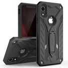 Zizo Static Cover Etui Pancerne z Podstawką do iPhone Xr (Black/Black)