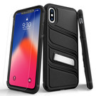 Zizo Bolt X Series Etui Pancerne do iPhone Xs / X (Black/Black) + Szkło Hartowane Na Ekran