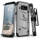 Zizo Bolt Cover Etui Pancerne do Samsung Galaxy S8+ Plus ze Szkłem 9H na Ekran + Podstawka & Uchwyt do Paska (Gray/Black)