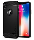 (EOL) Spigen Rugged Armor Etui Obudowa do iPhone X (Matte Black)