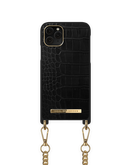 iDeal of Sweden Necklace Etui Obudowa ze Smyczą do iPhone 11 Pro / iPhone Xs / iPhone X (Jet Black Croco)