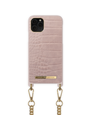 iDeal of Sweden Necklace Etui Obudowa ze Smyczą do iPhone 11 Pro / iPhone Xs / iPhone X (Misty Rose Croco)