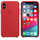 Apple Silicone Case Oryginalne Silikonowe Etui do iPhone Xs (Czerwony) (Product) Red