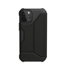 Urban Armor Gear Metropolis Etui Pancerne z Klapką do iPhone 12 Pro / iPhone 12 (SATN ARMR Black)
