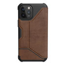 Urban Armor Gear Metropolis Etui Pancerne z Klapką do iPhone 12 Pro Max (LTHR ARMR Brown)
